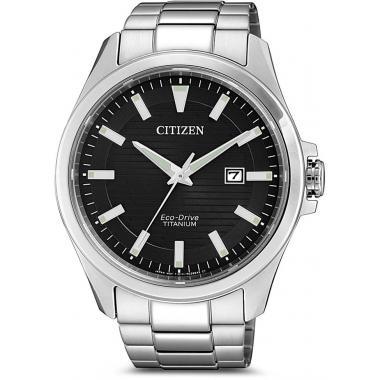 Pánské hodinky CITIZEN Elegant Eco-Drive Super Titanium BM7470-84E