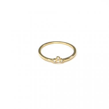 Prsten ze žlutého zlata a zirkony Pattic AU 585/000 0,80 gr ARP053901Y-50