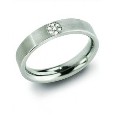 Titanový prsten BOCCIA s diamanty 0129-0555