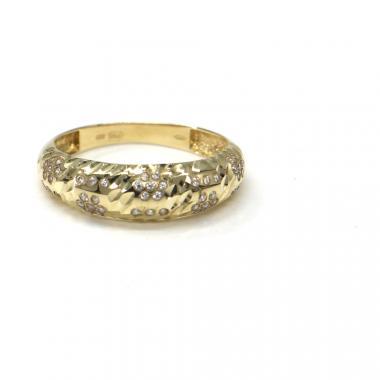 Prsten z dvoubarevného zlata Pattic AU 585/000 2,11 gr se zirkony, PR111412401