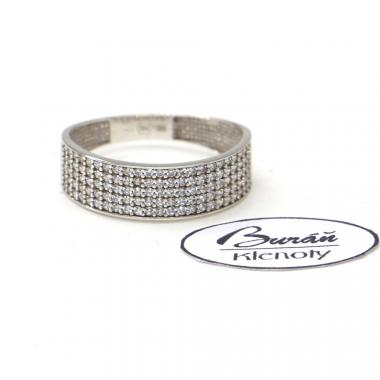 Prsten z bílého zlata a zirkony  AU 585/000 1,90 gr, PR146050501A