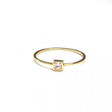 Prsten ze žlutého zlata se středovým zirkonem Pattic AU 585/000 0,75 gr ARP512501-54