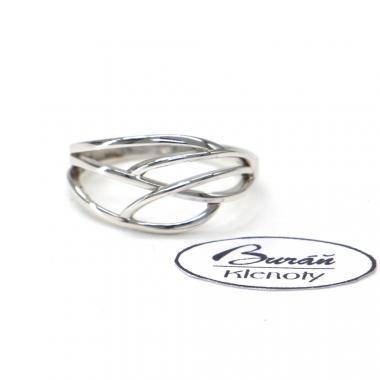 Prsten z bílého zlata AU 585/000 2,16 gr, BA03701
