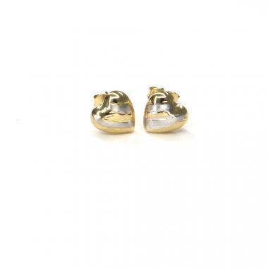 Náušnice ze žlutého zlata srdce Pattic AU 585/000 1,05 gr ARP852204
