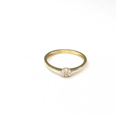 Prsten ze žlutého zlata a zirkony Pattic AU 585/000 1,20 gr ARP544201Y-53