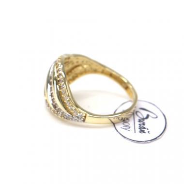 Prsten ze žlutého zlata a zirkony Pattic AU 585/000 2,90 gr, Z442001