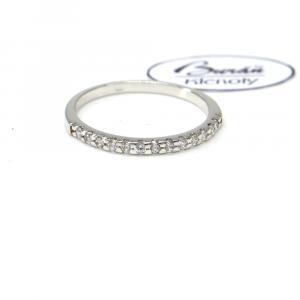 Prsteň z bieleho zlata so zirkónmi Pattic AU 585/000 1,55 gr, PR146050201