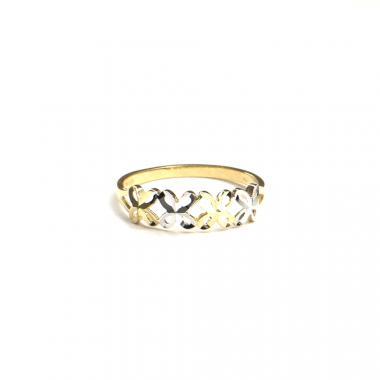 Prsten z dvoubarevného zlata PATTIC AU 585/000 1,3 gr, ARP649901-55