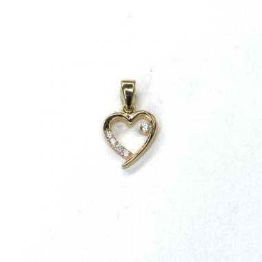 Príves srdce Pattic AU 585/000 1 gr ARP079305