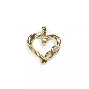 Přívěs ze žlutého zlata srdce PATTIC AU 585/000 1,85 gr ARP049105Y