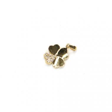 Přívěs ze žlutého zlata čtyřlístek se zirkony Pattic AU 585/000 0,7g BV0022505Y