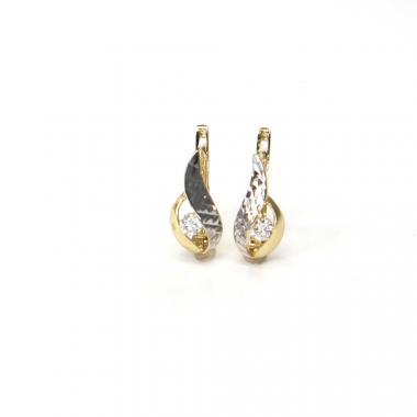 Náušnice ze žlutého zlata se zirkonem Pattic AU 585/000 1,80 gr ARP512204