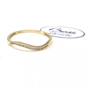 Prsten ze žlutého zlata a zirkony Pattic AU 585/000 0,92 gr, BA04301