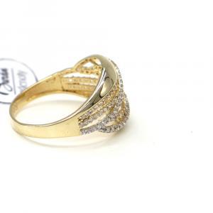 Prsten ze žlutého zlata a zirkony Pattic AU 585/000 2,90 gr, Z414001