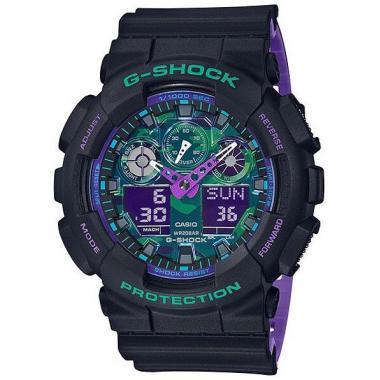 Pánské hodinky CASIO G-shock GA-100BL-1AER