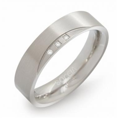 Titanový prsten BOCCIA s diamanty 0138-0255