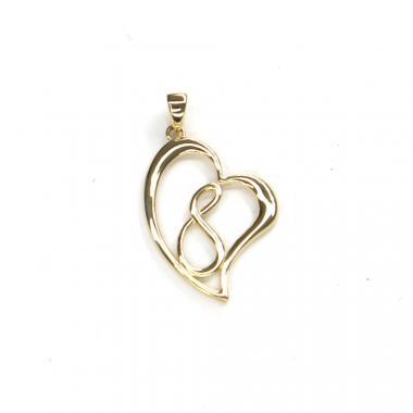 Přívěs ze žlutého zlata srdce Pattic AU 585/000 1,45 gr ARP993105Y