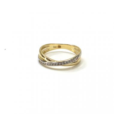 Prsten ze žlutého zlata Pattic AU 585/000 1,85 gr GU01001 se zirkony