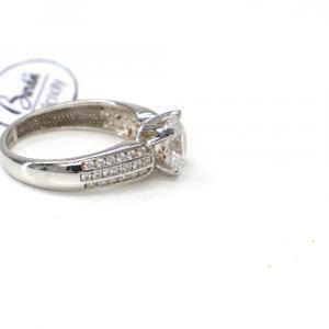 Prsten z bílého zlata se středovým zirkonem a zirkony Pattic AU 585/000 2,80 gr, PR146061401