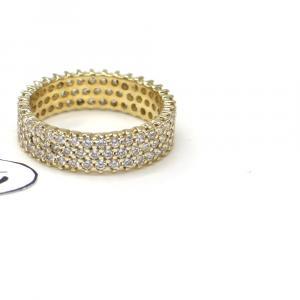 Prsten ze žlutého zlata a zirkony Pattic AU 585/000 4,20 gr,Z447001
