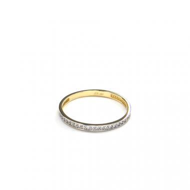 Prsten ze žlutého zlata a zirkony Pattic AU 585/000 1,10 gr GURDE0124590001-57