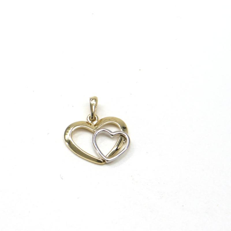 Zlatý přívěsek Pattic srdce 1,15 gr GU00405
