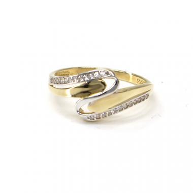 Prsten ze žlutého zlata a zirkony Pattic AU 585/000 2,05 gr PR111072601A