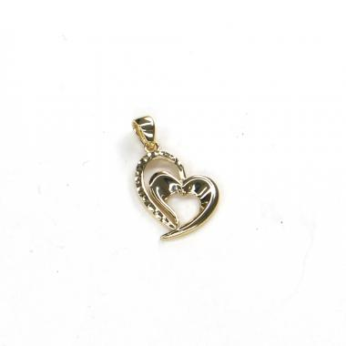 Přívěs ze žlutého zlata srdce PATTIC AU 585/000 1,25 gr ARP004005Y