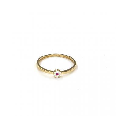 Prsten ze žlutého zlata s rubínem Pattic AU 585/000 0,95 gr LMG08301RY-50