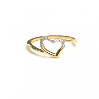 Prsten ze žlutého zlata a zirkony Pattic AU 585/000 1,45 gr, ARP049201-54