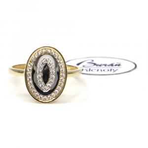Prsten ze žlutého zlata a zirkony Pattic AU 585/000 2,25 gr, PR111130901-56