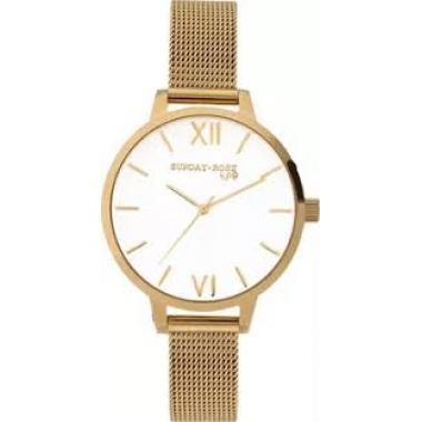 Dámské hodinky JVD Sunday Rose Fashion Royal Gold SUN-F03