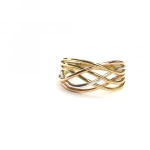 Prsten Pattic z tříbarevného zlata, AU 585/000 3,15gr,ARP652601-58