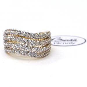 Prsten ze žlutého zlata a zirkony Pattic AU 585/000 4,20 gr, Z431001