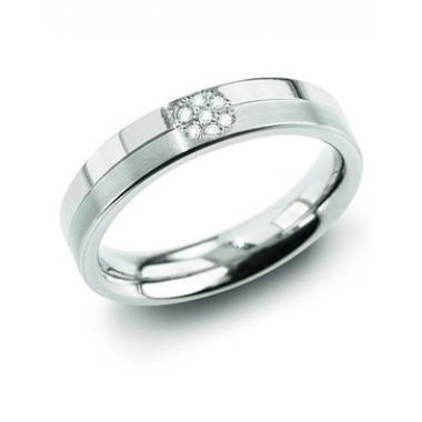 Titanový prsten BOCCIA s diamanty 0129-05