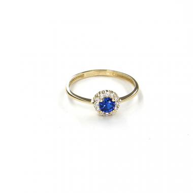 Prsten ze žlutého zlata s akvamarínem Pattic AU 585/000 1,35 gr LMG6901BLY-55