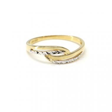 Prsten z dvoubarevného zlata Pattic AU 585/000 1,75 gr, BA03001