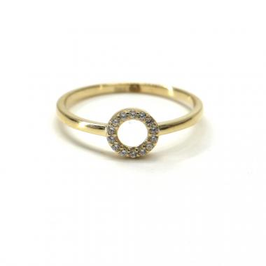 Prsten ze žlutého zlata Pattic AU 585/000 1,25 gr GU00601 se zirkony