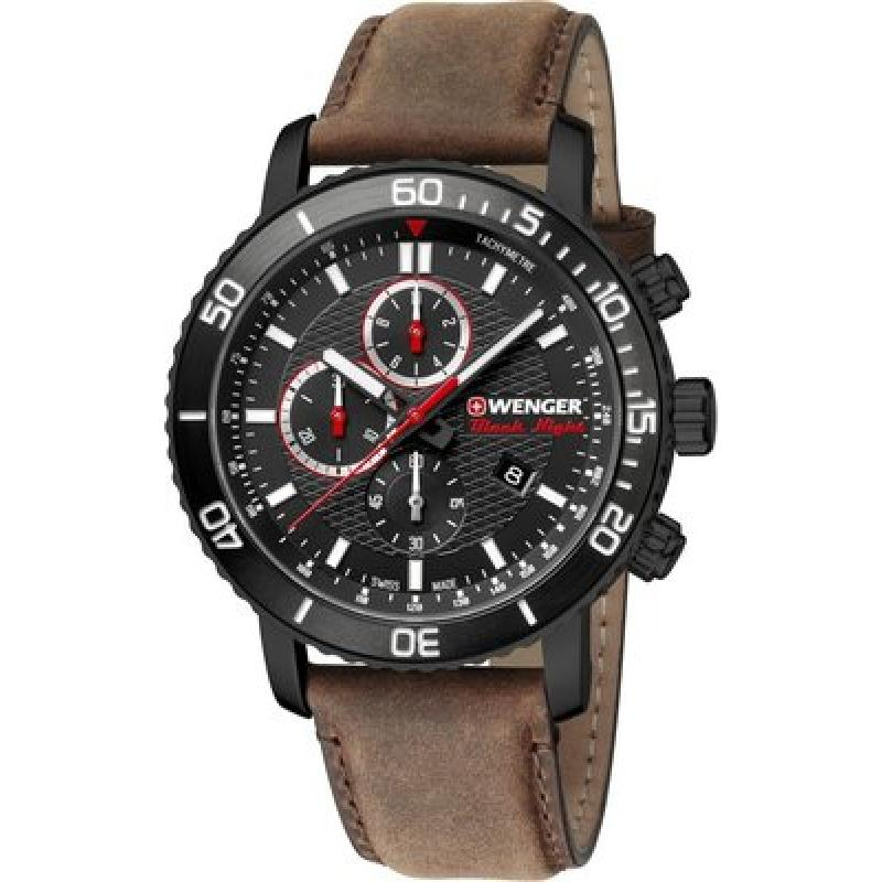 Pánské hodinky WENGER Roadster Black Night Quartz Chronograph 01.1843.107