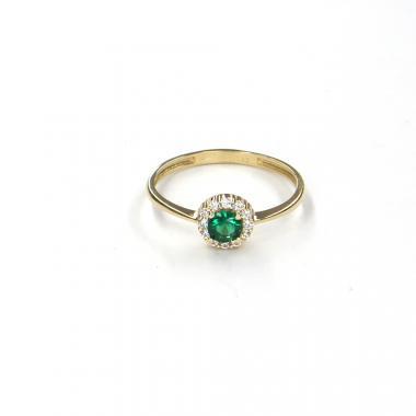 Prsten ze žlutého zlata se spinelem Pattic AU 585/000 1,30 gr LMG6901GRY-55