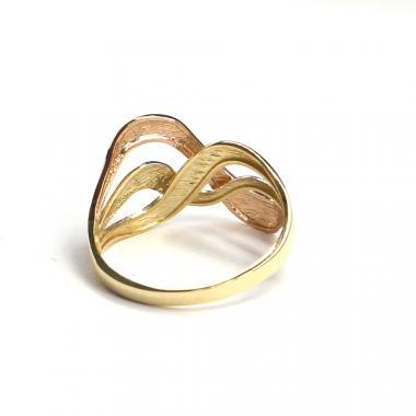Prsten z tříbarevného zlata Pattic AU 585/000 2,5 gr, ARP603301-58