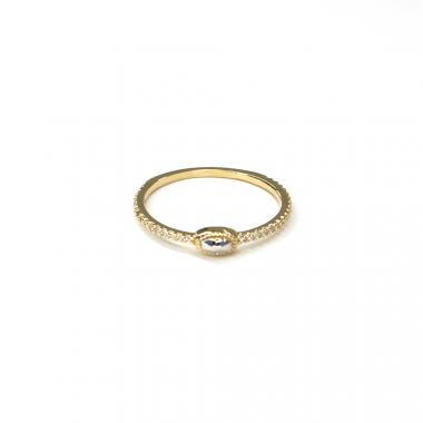 Prsten ze žlutého zlata a zirkony Pattic AU 585/000 1,05 gr ARP054101-52