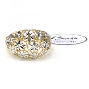 Prsten z dvoubarevného zlata Pattic AU 585/000 2,70 gr, PR111133201A