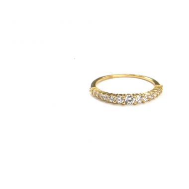 Prsten ze žlutého zlata a zirkony Pattic AU 585/000 1,55 gr, ARP555401-56