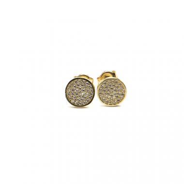 Náušnice PATTIC ze žlutého zlata kuh se zirkony AU 585/000 1,45g BV019904Y