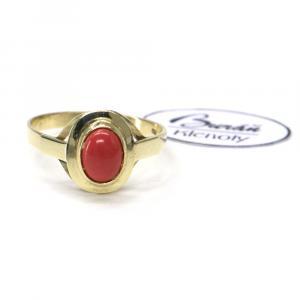 Prsten ze žlutého zlata se středovým korálem Pattic  AU 585/000 2,15 gr, Z00801A