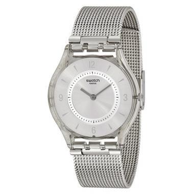 894bb893458 3D náhled. Dámské hodinky SWATCH Metal Knit SFM118M