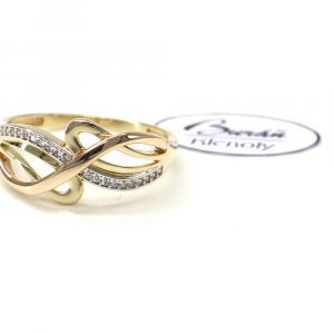 Prsten z tříbarevného zlata PATTIC AU 585/000 2,75 gr, ruční práce, PR111065301-61
