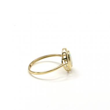 Prsten ze žlutého zlata Pattic AU 585/000 GU00401 s australským opálem