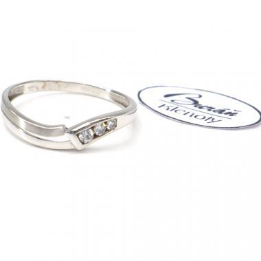 Prsten Pattic  z bílého zlata AU 585/000 1,27 gr, PR116115101A